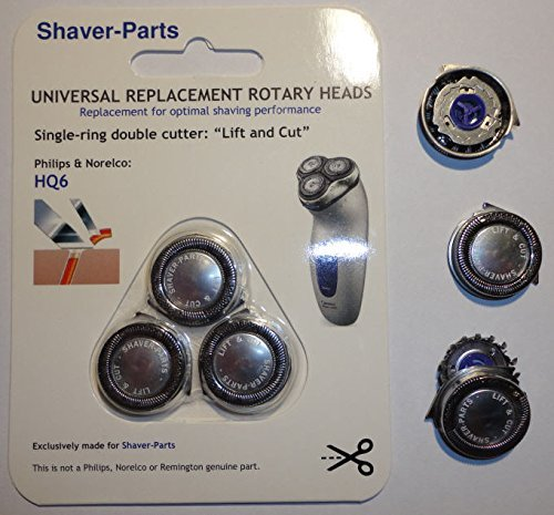 Shaving Heads: HQ6 LIFT & CUT, Alternative (Fits) for Norelco / Philips Shavers. by Shaver-Parts