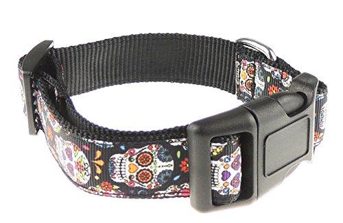 Funky Retro Rainbow schwarz Farbe Inka Maya Stil Totenkopf Nylon ()