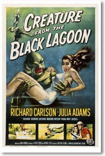 Filmposter, Motiv: Kreatur aus der schwarzen Lagune, Vintage-Stil -