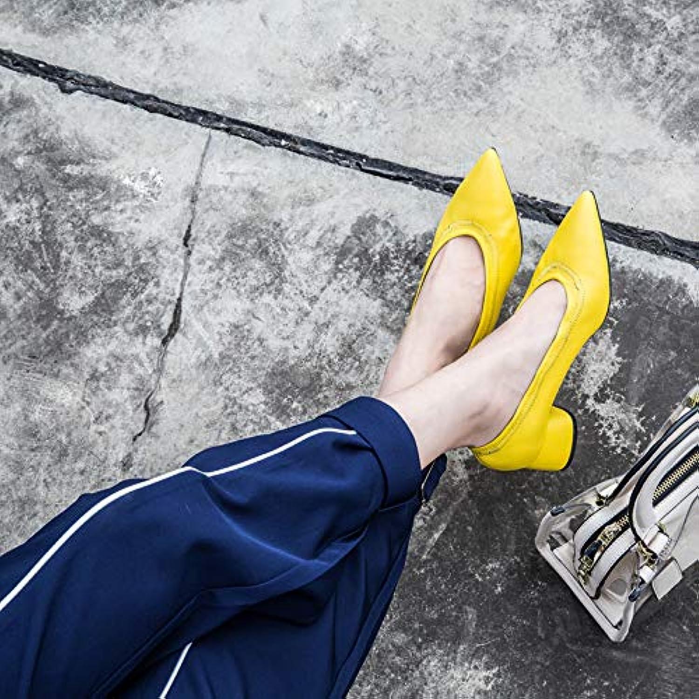 HOESCZS Scarpe da Donna Autunno Nuove Scarpe di Moda Pelle A Punta Bocca Superficiale Spessa con Una Sola Scarpa... | Offerta Speciale  | Scolaro/Ragazze Scarpa
