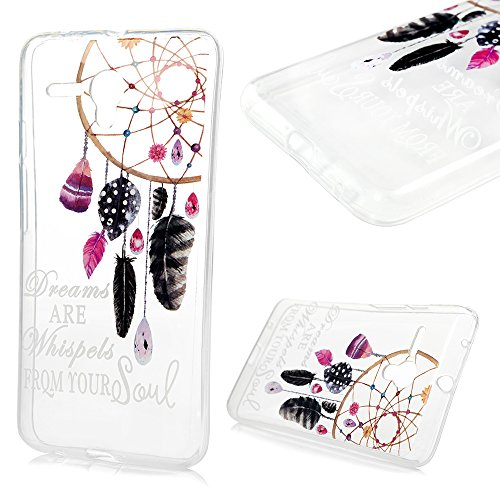 "Alcatel One Touch Pop 3 (5.5"") 5025D Coque Transparente de Dessin Original en TPU Souple Case Cover - MAXFE.CO Clochette"