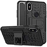For Redmi Note 5 Pro,ZYNK CASE Hybrid Armor Design Detachable And Stand-up Feature Dual Layer Protective Shell Hard Back Cover Case For Xiaomi Redmi Note 5 Pro-Space Black