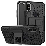 #10: For redmi note 5 pro,ZYNK CASE Hybrid Armor Design Detachable and Stand-up Feature Dual Layer Protective Shell Hard Back Cover Case For Xiaomi Redmi Note 5 Pro-Space Black