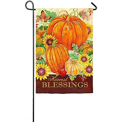 Evergreen in pelle scamosciata Harvest Blessings giardino Bandiera, 12,5 x 45,72 cm - Seasons Harvest Giardino Bandiera