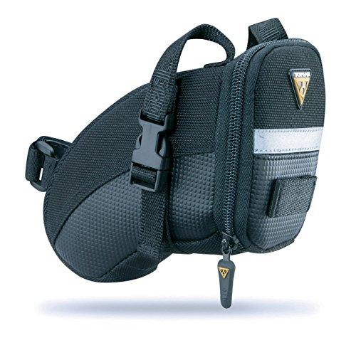 Topeak Satteltasche Mit Befestigungsriemen Aero Wedge Pack (small), Black, 17x8x12 cm, 0.66 L