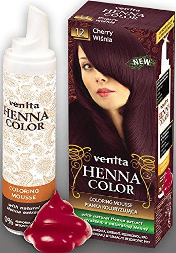 Venita Henna Color Coloring Mousse Schaumcoloration Servicepackung Kirschrot (Cherry) Nr. 12