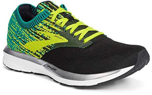 Brooks Ricochet, Zapatillas de Running por Hombre, Negro (Black/Lime/Blue Grass 071), 43 EU