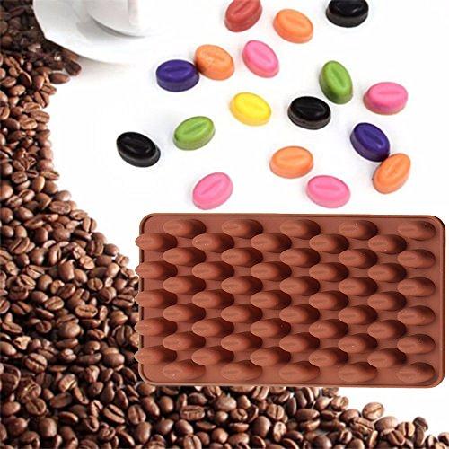 55 Mini Kaffeebohnen Silikonform Kuchen Schokolade Gelee Süßigkeiten Seife Backform