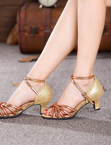 La mode moderne Non Sandales femmes personnalisables Chaussures de danse En satin Talon cubain bleu/rouge/Argent/Or US10.5/EU42/UK8.5/CN43