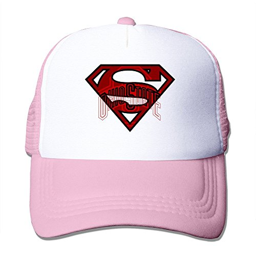 YSC-Dier Custom Personalized Mesh Ohio State University Baseball Visor Cap Black Pink Ohio Mesh Cap
