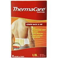 ThermaCare Lower Back & Hip Heat Wraps, Large-XL, 2-Count Boxes (Pack of 2)