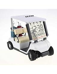 crestgolf Vert Mini chariot de golf Golf miniature Horloge Réveil, poussette, Lot de 1Pièce