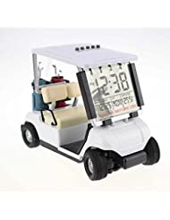 crestgolf White Mini reloj despertador, de golf buggy de golf en miniatura, pack de 1pcs