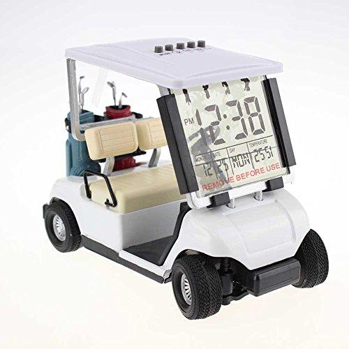 Crestgolf Wecker in Golfcart-Form, Miniatur-Golfwagen, weiß
