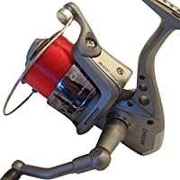 FISHZONE CHROME Series AF60 & AF70 Front Drag Options Fixed Spool Fishing Reel (Pre Spooled) - for Sea Spin Surf & Beach