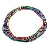 Bnineteenteam Corde per Basso durevoli 1.16mm 1.44mm 2.0mm 2.54mm Corde per Strumenti a Corde per Basso elettriche Colorate a 4 Corde