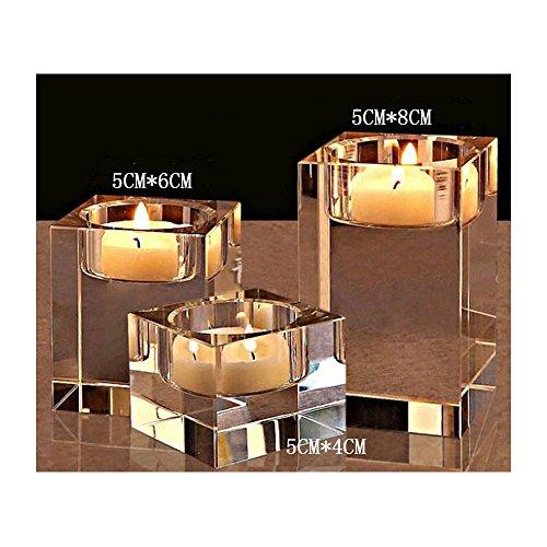 Portavelas de cristal K9 de alta calidad de Cosy-YcY, candelabro de alta calidad, la mejor decoración para bodas, cumpleaños, Navidad y fiestas, Hight of 4+6+8cm