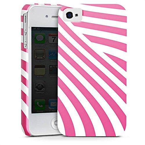 Apple iPhone X Silikon Hülle Case Schutzhülle streifen gestreift Premium Case glänzend