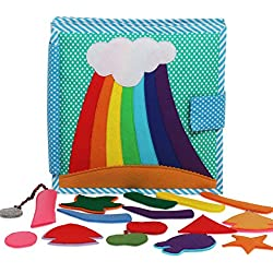 Prism - 8 Page Quiet Book / Busy Book / Interactive Cloth Book/ Toddler Activity Book/ Developmental Toy
