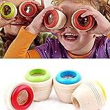 Kaléidoscope en bois magique jouet d'éducation pour l'apprentissage des enfants-lot de 2 Kaléidoscopes