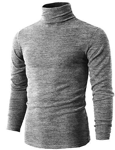 Rollkragen Langarmshirt Herren Rollkragen Shirt,Turtleneck Rolli,Trendshirt