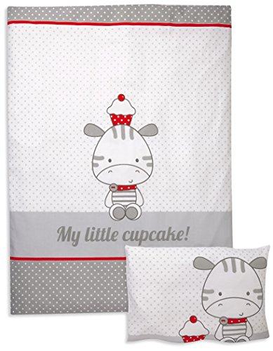 Herding 269561063 Bettwäsche My little Cupcake, Kopfkissenbezug: 40 x 60 cm plus Bettbezug: 100 x 135 cm, 100 % Baumwolle, Flanell / Biber (Cupcakes Bettwäsche Für Kinderbett)