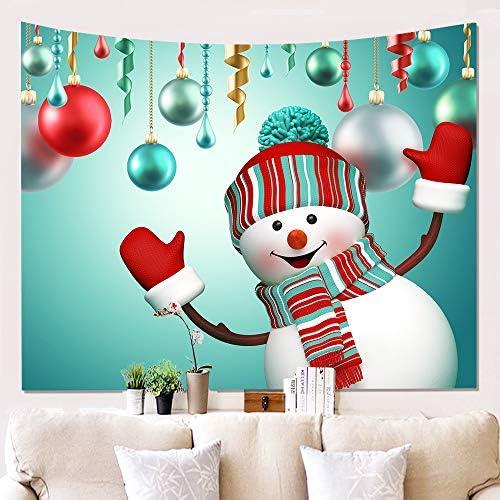 OOFAYWFD Tapestry Home 3D Panno da Muro Pupazzo di Neve di Panno di Neve Stoffa di Fondo Dipinto di Tappezzeria Decorazione da Parete 150  200Cm,1 65cdfb
