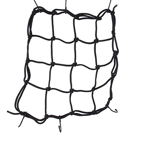 Moto casco 6ganci regolabili tasca in rete, 76,2x 76,2cm super Strong net Hold mesh di carico casco Bungee web d' imballaggio ATV net