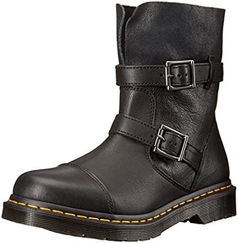 Dr. Martens Nero KRISTY Virginia Nero Slouch Rigger barca 20345001, Noir, *