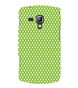 Light Green Zero 3D Hard Polycarbonate Designer Back Case Cover for Samsung Galaxy S Duos 2 S7582
