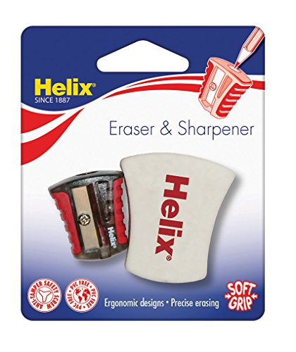 Helix 899945 Ergo eraser and pencil sharpener