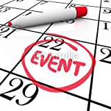 "Alu-Dibond-Bild 100 x 100 cm: ""Event Word Circled Calendar Date Special Day Party Meeting"", Bild auf Alu-Dibond"