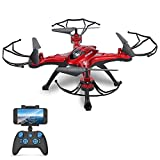 GoolRC T5W WiFi FPV 0.3MP Caméra RC Drone Quadcopter avec Une Clé pour Retour Mode sans Tête 360 ° Éversion Fonction (Rouge)