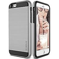 Cover iPhone 6S Plus, VRS Design [Verge Series][Argento Satinato] - [Metallo Spazzolato] [Struttura Resistente] [Massima (Gps Carta Pocket Pc)
