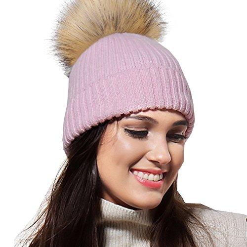 FURTALK Pom Pom Hats For Women - Ladies Winter Knitted Bobble Hat Angora  Wool Beanie - Buy Online in Oman.  7a87c43e6