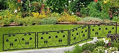 Beet- und Wegeinfassung 4er Set Blätter Motiv Beetumrandung Rasenkante von Gardenline - Du und dein Garten