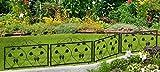 Beet- und Wegeinfassung 4er Set Blätter Motiv Beetumrandung Rasenkante