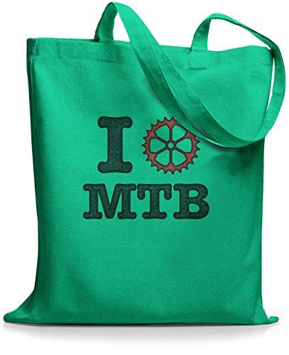 Tasche Jutebeutel vintage MTB I love Mint StyloBags OUwxPBvP