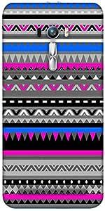 Snoogg Aztec Digital Pattern Designer Protective Back Case Cover For Asus Zen...
