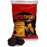 20kg of Supertherm Smokeless Coal - Large, Long Lasting Briquettes - Comes with Woven Sack.