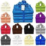 Buymax 12-teilig Handtuch-Set aus 100% Baumwolle 2 Duschtücher 2 Handtücher 2 Gästetücher 4 Waschhandschuhe 2 Seittücher 480 g/qm Türkis