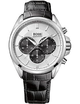 Hugo Boss Herren-Armbanduhr Chronograph Quarz Leder 1512880