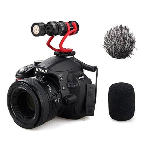 Comica CVM-VM10 II Compact on Kamera Mikrofon Vollmetall Kardioid Richtmikrofon Externes Mini Shotgun Video mikrofon für Canon Sony Nikon Panasonic Smartphones (Rot)