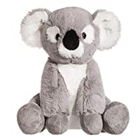 CHARAVECTOR Koala Plush Toy Stuffed Animal Gray White Soft Cuddly Perfect For Girls Boys Newborn Baby