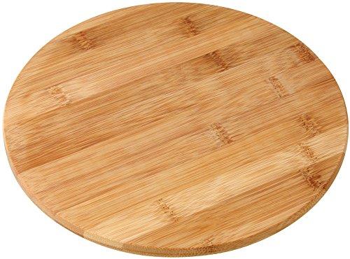 Fackelmann Vesperbrett rund, Bambus-Schneidebrett, Frühstücks- oder Brotzeitbrett, bruch- und schnittfestes Holz-Brettchen (Farbe: Braun), Menge: 1 Stück