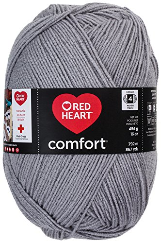 Coats Yarn Komfort-Garn Red Heart, Salbei grau