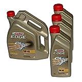 3x 1 L + 5 L = 8 Liter Castrol EDGE Titanium FST™ 5W-40 Motor-Öl Motoren-Öl; Spezifikationen/Freigaben: ACEA C3; API SN/CF; VW 502 00 / 505 00 / 505 01; BMW Longlife-04; MB-Freigabe 226.5 / 229.31 /