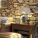 YA-ASKK Dcohom Vintage 3D Brick Stone Carta da Parati Strutturata per Camera da Letto Soggiorno Ristorante pareti Decor Muro di Mattoni Rotoli di Carta, 300 * 210