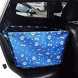 Haustier-Auto-Matte Hund Auto-Matte Rücksitz hintere Auto-Matte Golden Retriever Sicherheitssitz Anti-Dirty-Pad Universal-Haustier liefert (Farbe : Blau, größe : One Size)
