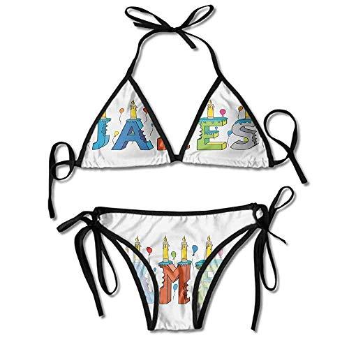 Custom Bikini Women Dream Girl Themed Cheery Letters of A Printing Bikini Dreams Thong Sandal